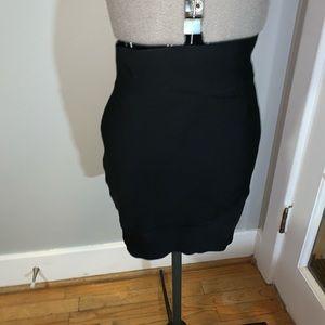 BCBGMaxAzria black bandage skirt, Sz L